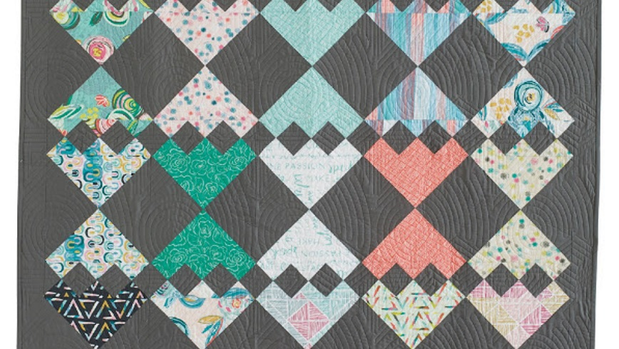 Wasatch quilting for Modern house quilt pattern