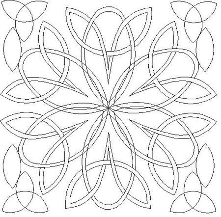Celtic Triangle Knot - Free Macrame Patterns