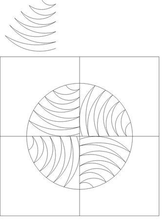 Old Testament Solomon's Puzzle/Drunkards Path Quilt Pattern