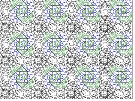 Asian longarm pattern digitized