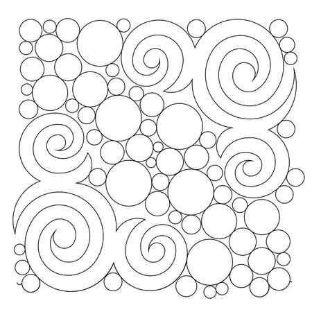Wasatch Digital Quilting Designs : Shop Category: Bubbles/Circles/Pearls/Pebbling Product: Spirals and bubbles E2E