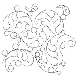 Wasatch Digital Quilting Designs : Shop Category: Feathers / Pearls / curls Product: Paisley feather E2E 2014